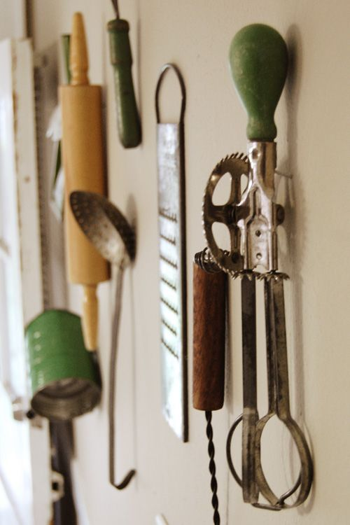 kitchen, utensils, wall decor, vintage, antique kitchen