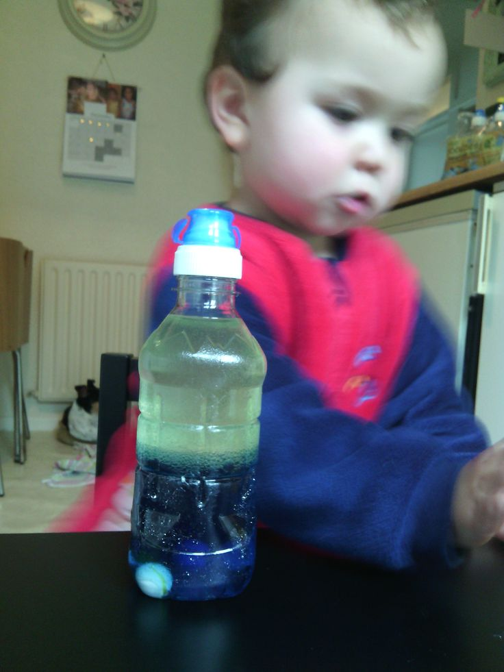 Busy boy! Dicovery science bottles