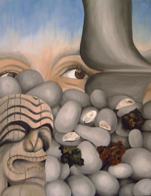 In den beginne...III olieverfschilderij In the beginning...III oil painting