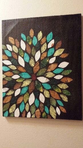 Burlap Canvas Art with Scrapbook paper, Floral design