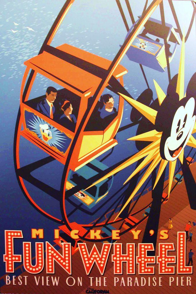 Vintage Disney Posters - Mickeys Fun Wheel
