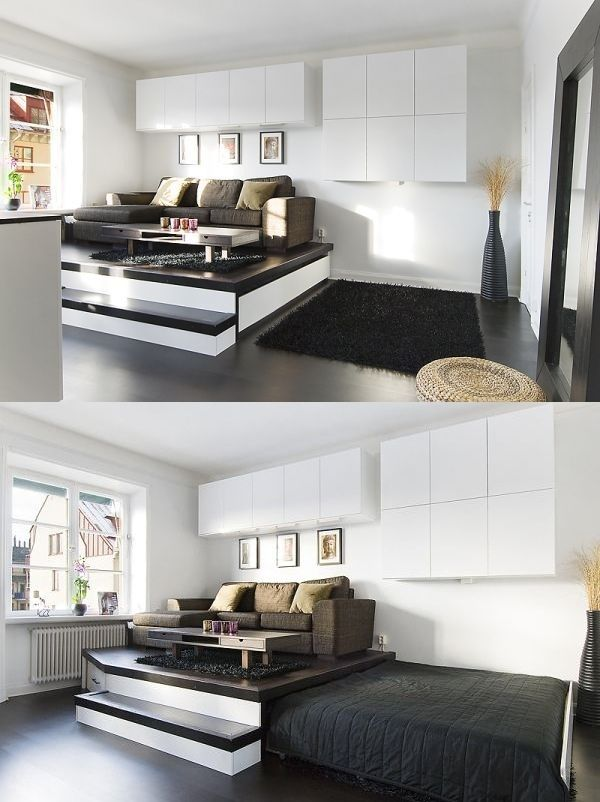 Space Saving Beds Bedrooms Raising The Room Above The Bed Rather Than The