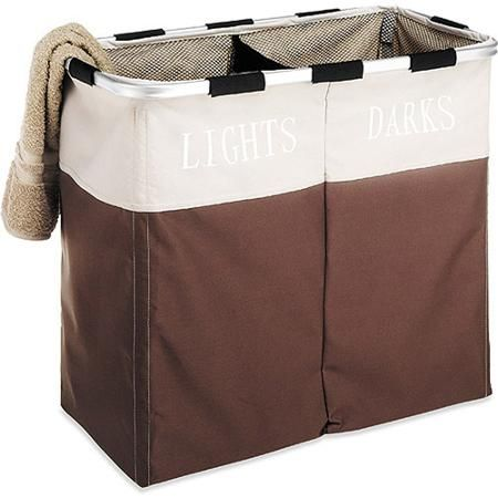 Whitmor Double Laundry Hamper and Sorter, Java