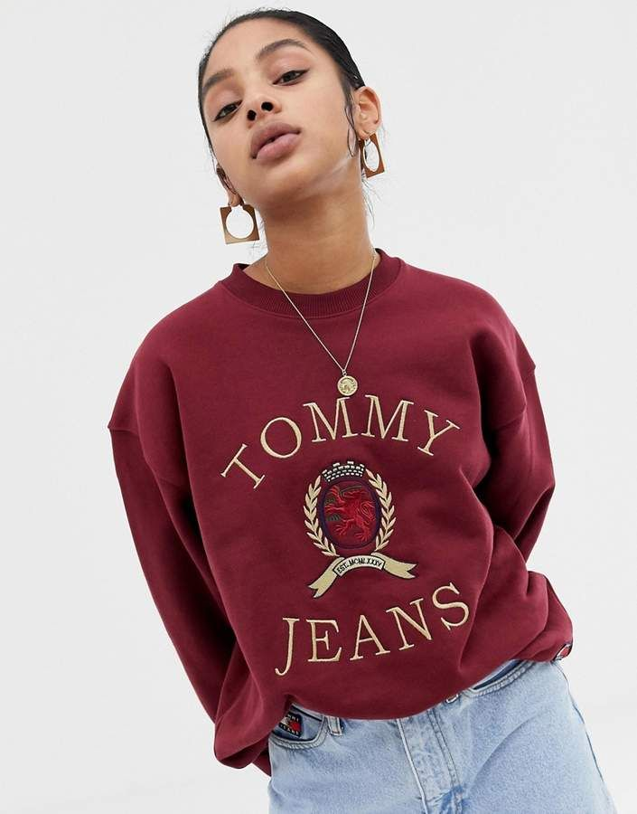 3a4c62d0 Tommy Jeans capsule crest logo sweatshirt | Tommy Hilfiger in 2019 ...