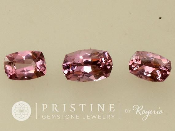 Rose Pink Spinel Cushion Shape Set for Jewelry #Bead #cuhsion_pink-spinel #custom_jewelry