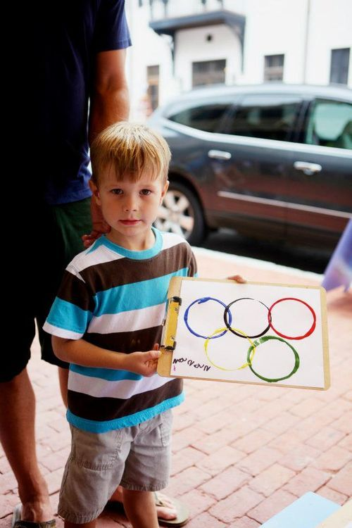 olympic rings painting project for kids