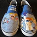 Dexter's Laboratory Custom Painted Shoes Men's Size 10. $40.00, via Etsy.