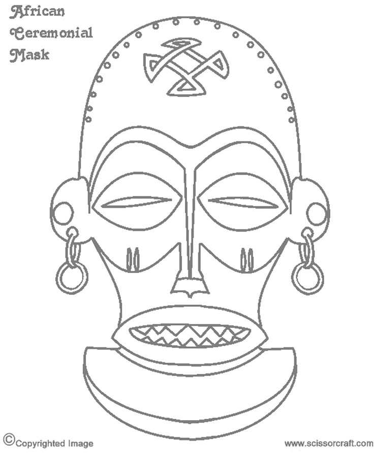 816 best images about coloring printable masks on pinterest for Printable african masks coloring pages