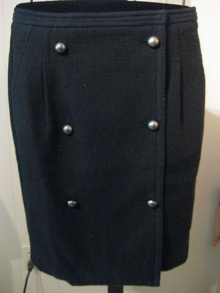 MISSES COTTON DOUBLE BREASTED  SKIRT TALBOTS 2 $89 #Talbots #WrapSarong