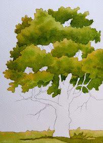 Técnicas para pintar árboles en acuarela.
