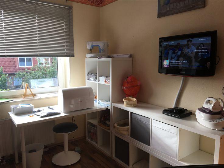 mein n hzimmer mit ikea kallax sweet home pinterest n hzimmer ikea und b ros. Black Bedroom Furniture Sets. Home Design Ideas