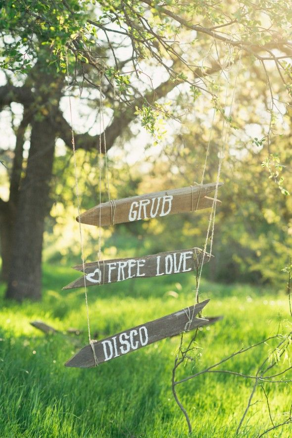 Vintage Style Wedding Signs Omg omg omg! I want so badly to have a hippy wedding!