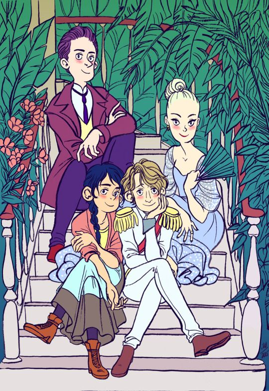 We're very excited to share with you some sneak peek art from Jen Wang's new graphic novel, The Prince and the Dressmaker, out with First Second Books in 2017!