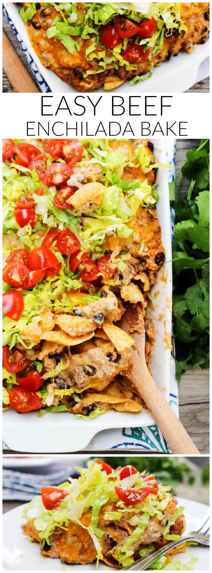 Easy Beef Enchilada Bake LONG PIN