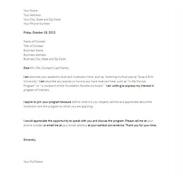 Estate Planning Letter Of Instruction Template: Printable Sample Letter Of Intent Template Form
