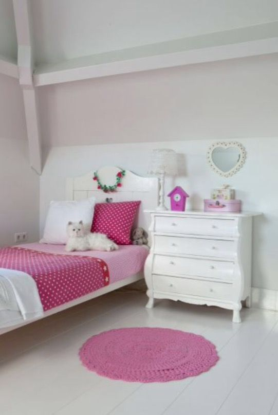 "This sweet girls bedroom is from our feature ""Statement of Style"""