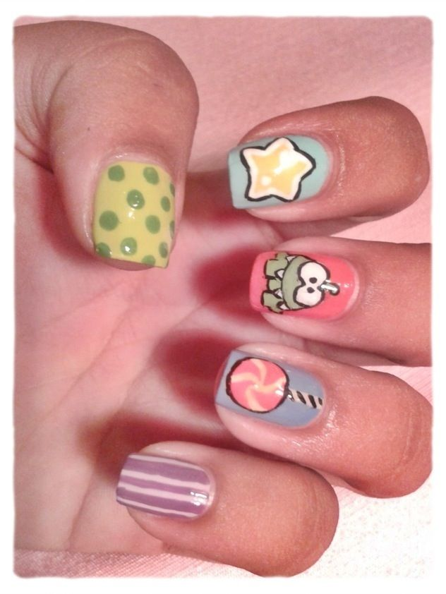 Awww! Cut the rope nails!! #cuttherope #nails