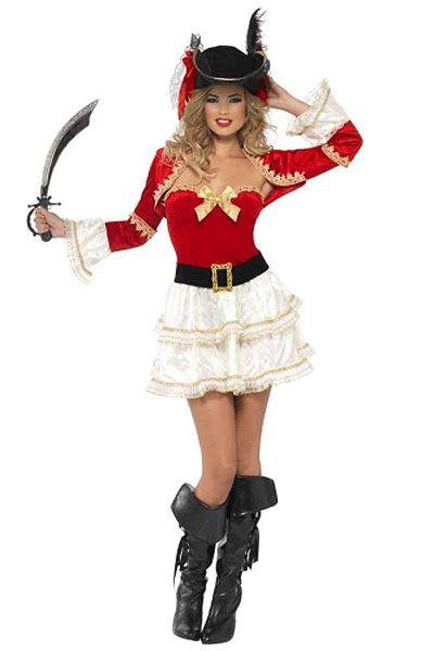 Sexy piraat kostuum voor dames. Leuk piraten pakje voor dames. Dit uitdagende piraten kostuum voor dames bestaat uit het jurkje, riem en jasje. Voor bijpassende piraten accessoires kunt u ook in deze webshop terecht! Carnavalskleding 2015 #carnaval