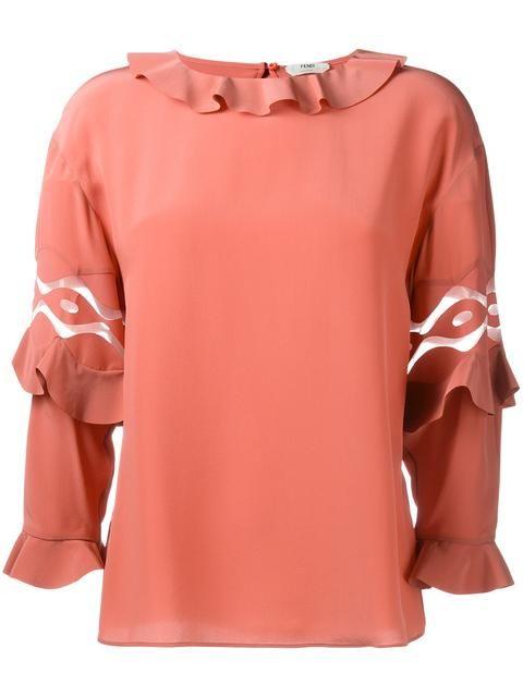 FENDI Блузка С Оборками. #fendi #cloth #оборками