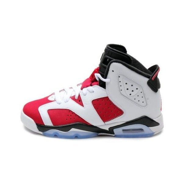 ee224b9f015dda Nike Air Jordan 6 VI Retro (GS) Olympic Boys Basketball Shoes... ( 219) ❤  liked on Polyvore featuring shoes