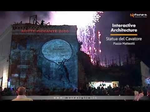 Installazioni interattive sviluppate per il comune di Catanzaro durante la Notte Piccante