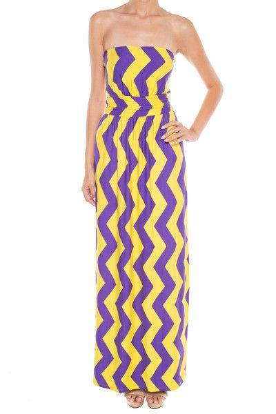 GAMEDAY DARLIN Maxi Dress Crimson Purple Gold LSU Shop Simply Me Boutique – Simply Me Boutique