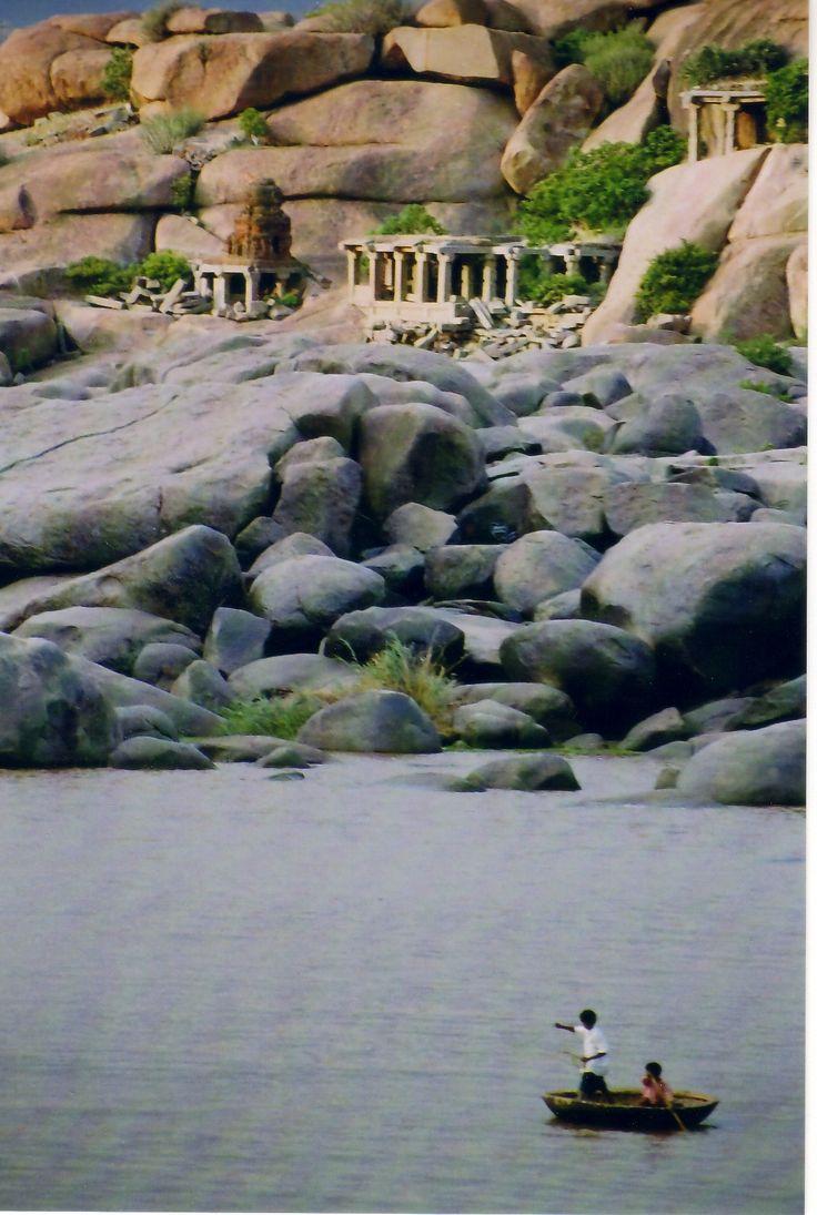 Tungabhadra River, Hampi, Karnatka, India