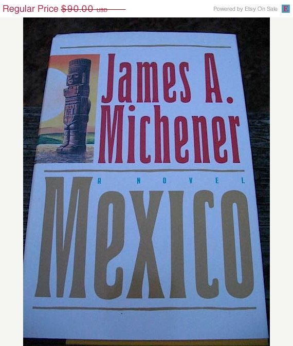 ON SALE First Edition Mexico by James A Michener by RadicallyRetro, $67.50