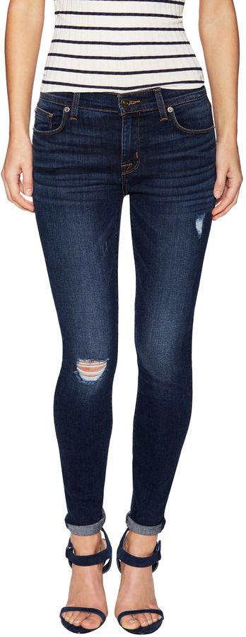 Hudson Women's Krista Crop Destruction Skinny Jean