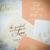 Personalized Printed Wedding Napkins