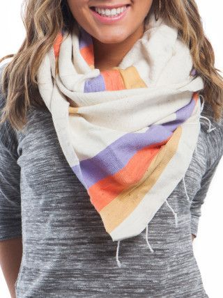 Mulu Scarf. Creating sustainable business in Ethiopia. Fair trade. 100% cotton. $48 www.paisleyandsparrow.com
