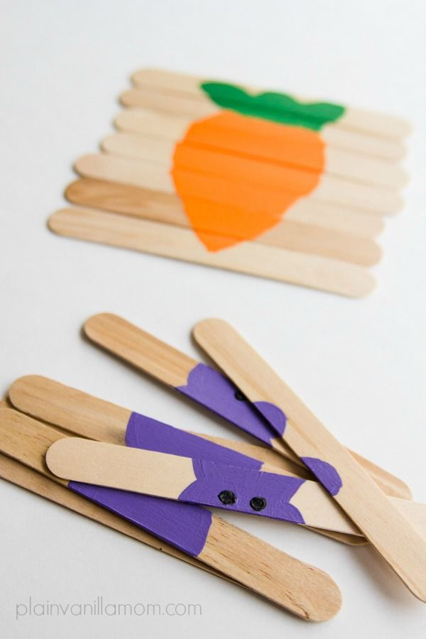 Easter craft stick puzzles