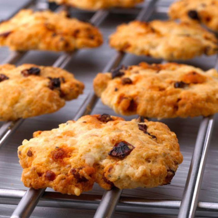 Cookies salés aux tomates séchées et au chorizo