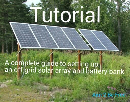 Setting up off grid solar tutorial