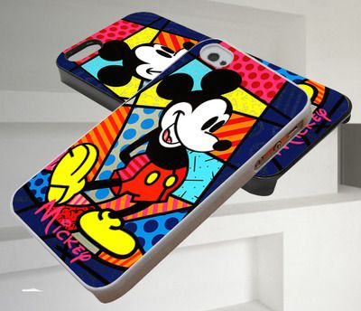 Romero Britto Mickey Mouse iPhone 4/4s,iPhone 5/5s/5c,Samsung Galaxy S3/S4/S5 Case