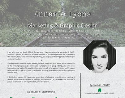 """Check out new work on my @Behance portfolio: """"CV - Personal"""" http://be.net/gallery/33041683/CV-Personal"""