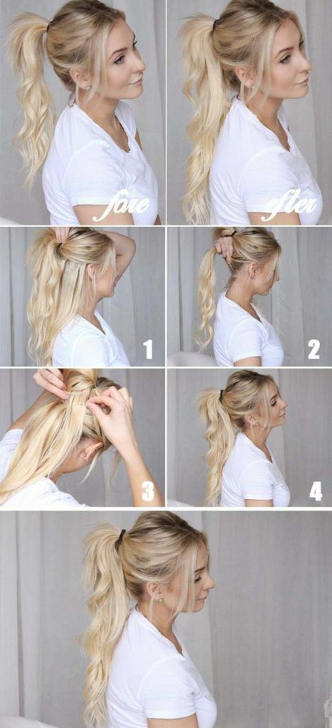 Best Hairstyles for Long Hair - Cool Ponytails - Step by Step Tutorials for Easy Curls, Updo, Half Up, Braids and Lazy Girl Looks. Prom Ideas, Special Occasion Hair and Braiding Instructions for Teens, Teenagers and Adults, Women and Girls http://diyprojectsforteens.com/best-hairstyles-long-hair