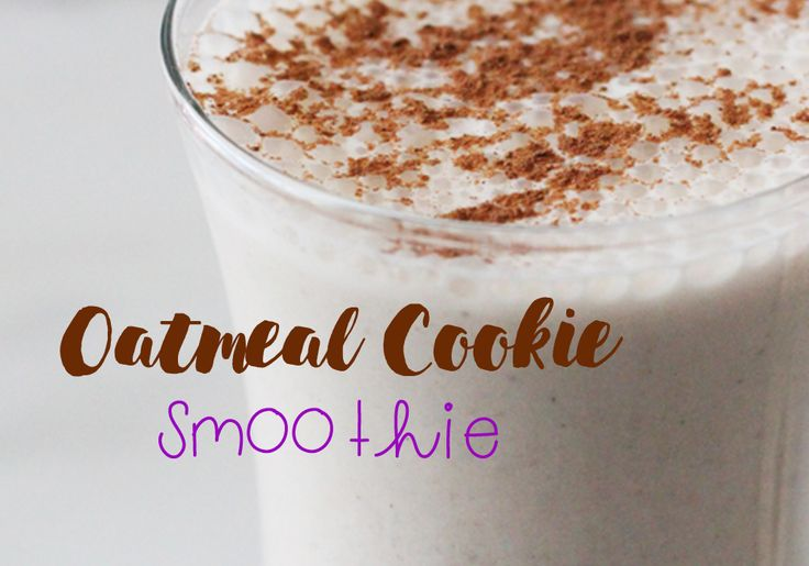 Try my oatmeal smoothie. The recipe I adapted has some added fibre, which will thicken up the smoothie, but also help you feel fuller longer!