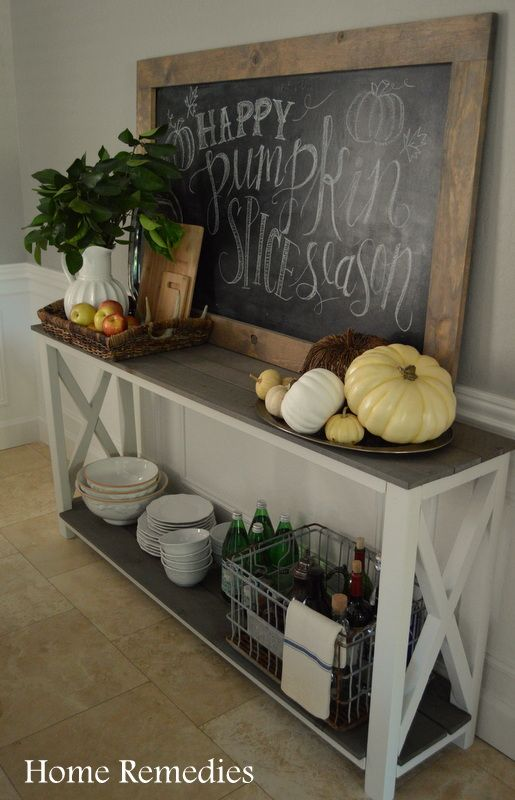 Rustic and Neutral Fall Dining Room Tour | Home Remedies