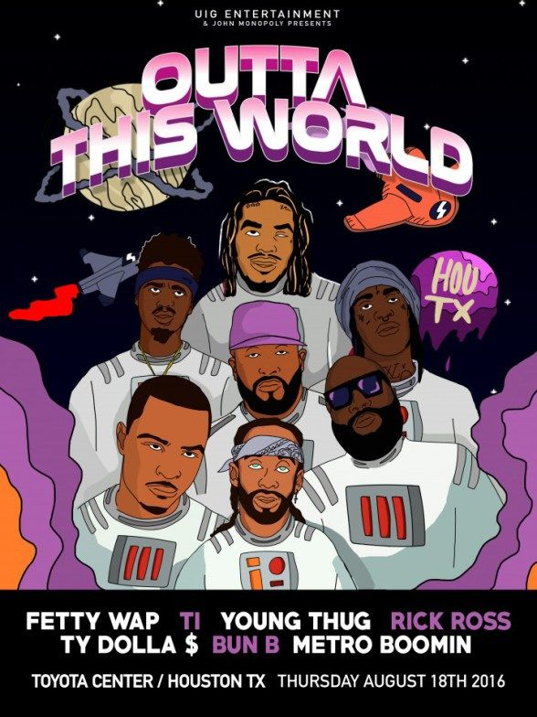 Young Thug T.I. & More To Perform At Outta This World Concert In Houston