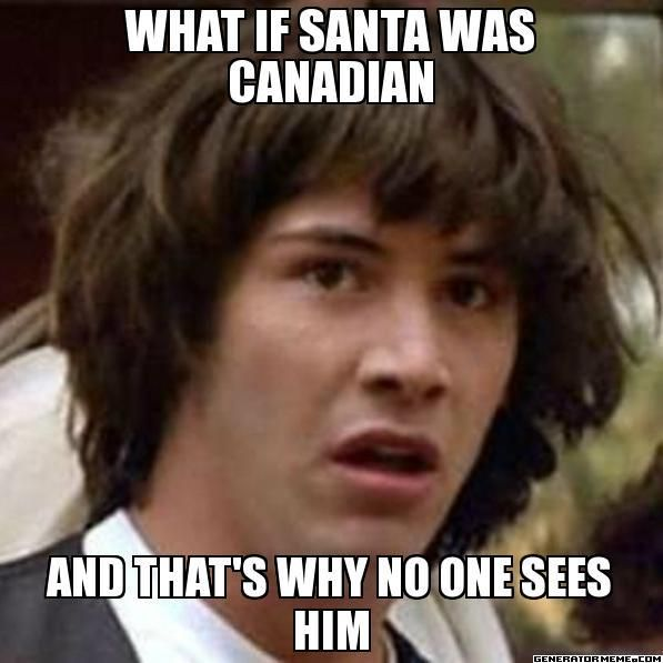 Huh, seems legit. (Canada - Hetalia) << THIS CAN BE A THING. CANADIAN POST HAS A POSTAL CODE FOR SANTA H0H 0H0