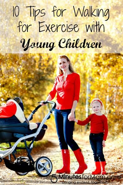 10 Tips for Walking for Exercise with Young Children-I've done the scavenger hunt for Luke. It really helps.
