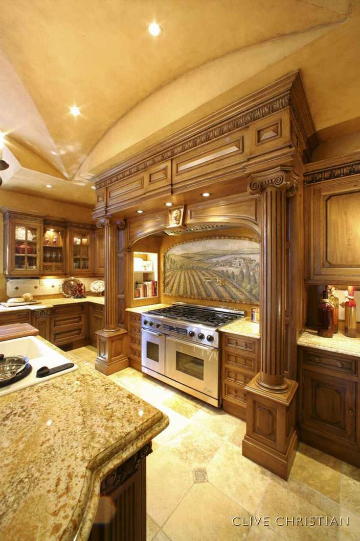 Luxury kitchen design homeideas homedesign - Luxury kitchen cabinets ...