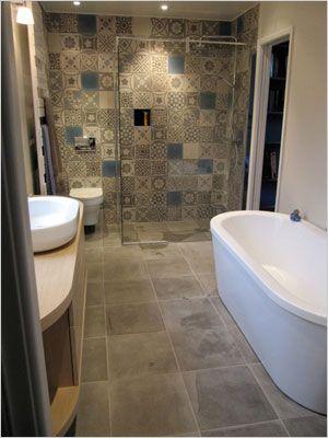Chambre avec salle de bain carreaux de ciment recherche - Carreau de ciment salle de bain ...