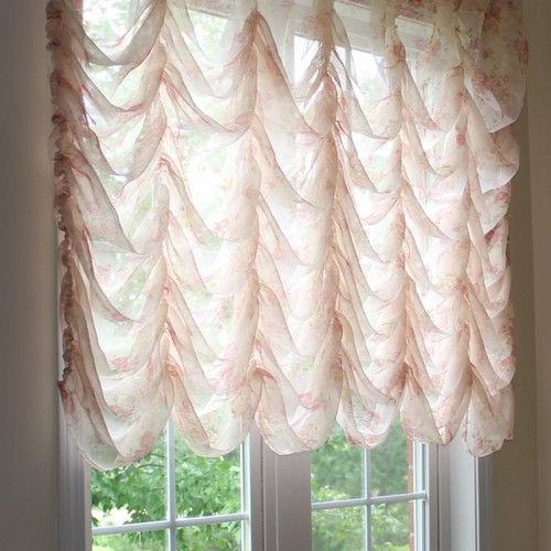 Austrian Festoon Brail Roman Waterfall Victorian Balloon Rose Lace Curtain Shabby Chic Curtains Hanging