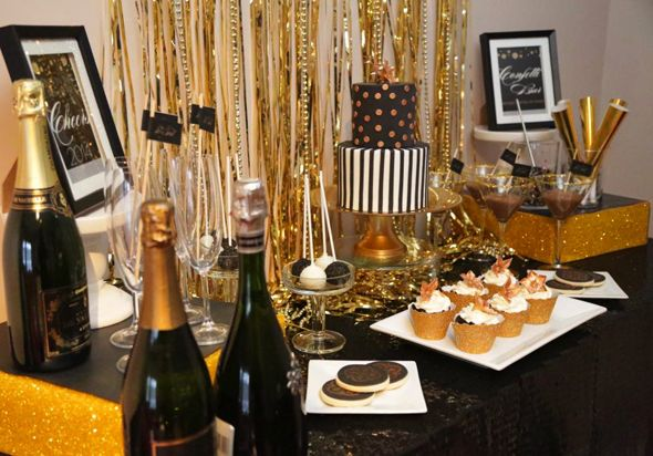 Glam Black & Gold New Year's Eve party