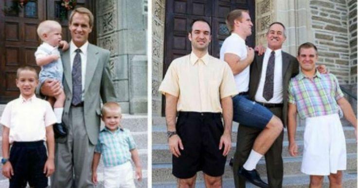9+1 Οικογενειακές φωτογραφίες τότε και σήμερα..!