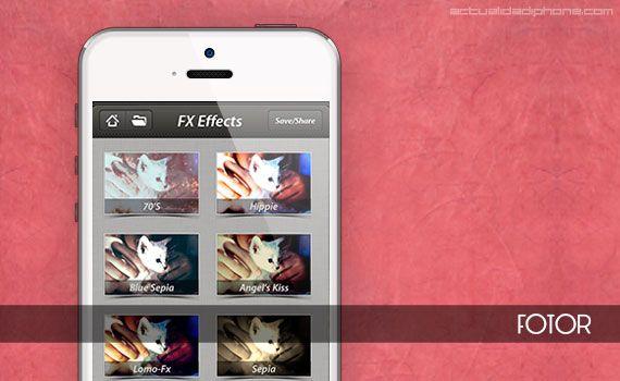 #Fotor, una aplicación gratuita para retocar fotos en el #iPhone