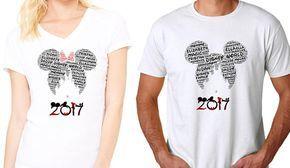 Palabra arte personalizado nombres nuevo DISNEY familia Apartamento 2017 camisetas de con tu nombre y tus apellidos en una camisa de Castillo de Disney