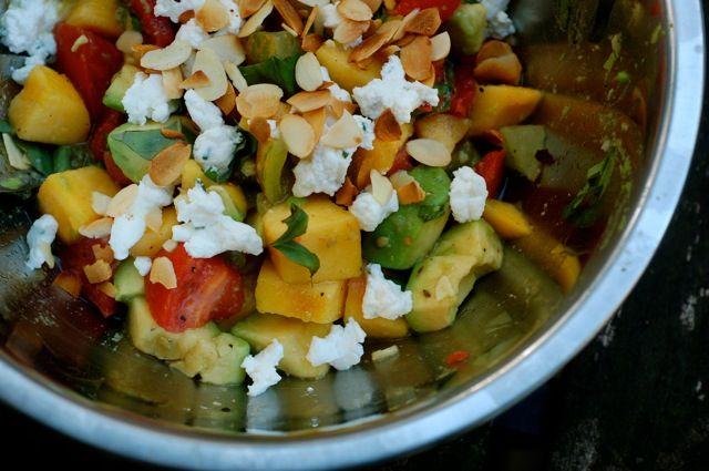 tomato-peach-avocado salad | Salads & Dressings | Pinterest